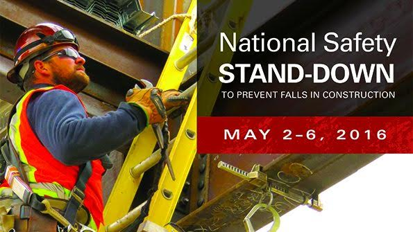 Prevent Falls and Join the National Safety Stand-Down May 2-6