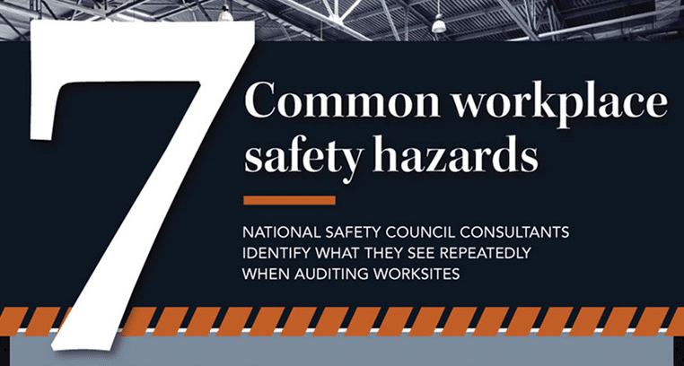 common hazards National safety council consultants found that seven workplace safety hazards are far too common and continue to put workers at risk every day.