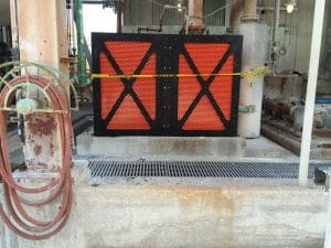 horizontal belt guard