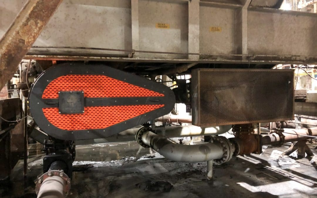 Power Plant Tapered Belt Guard Before & After