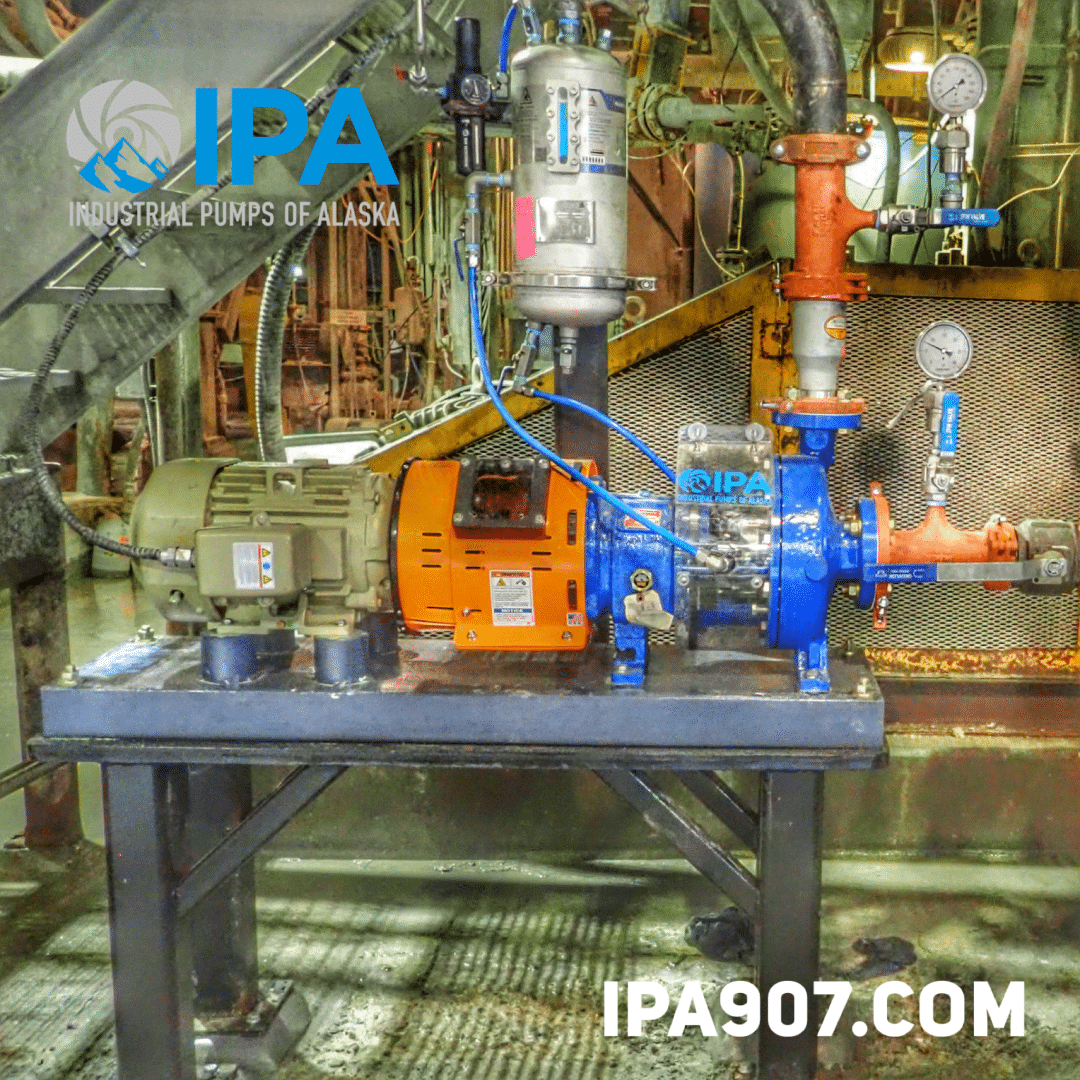 IPA ANSI MT pump with a barrel guard with an inspection window and a Uniclear