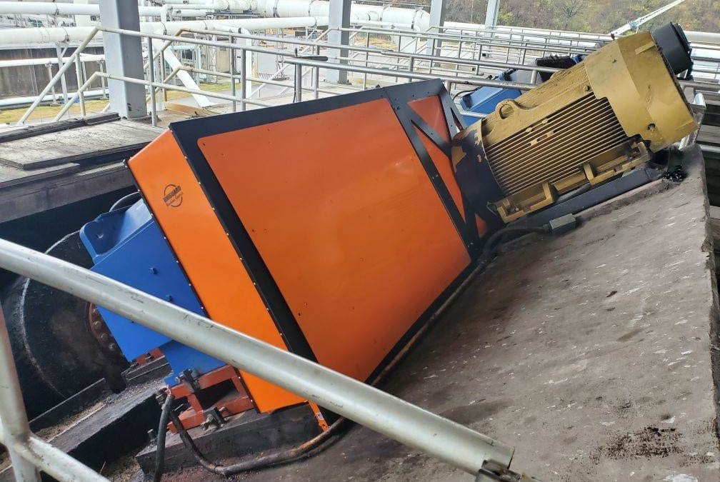 Horizontal Belt Guard for Agitator with Z Shaft Configuration at Chemical Plant